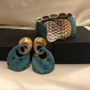 LOFT Earrings and Bracelet Matching Set